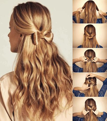 Perfecto peinados faciles para niñas paso a paso Colección De Cortes De Pelo Tutoriales - Cómo hacer el peinado lazo paso por paso.   TuPeluqueriaOnline
