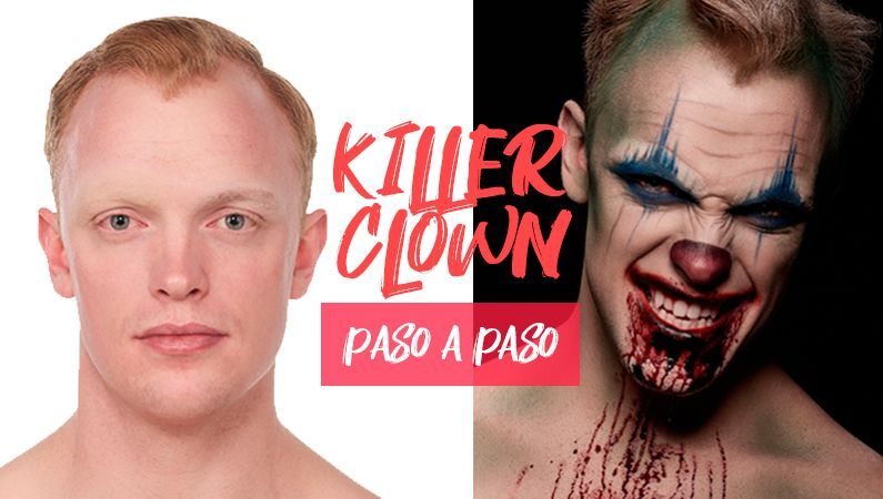 "Maquillaje de Halloween ""Killer Clown"" paso a paso"